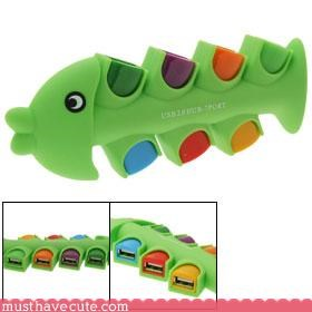 fish gadget Office rainbow techno - 3089884672