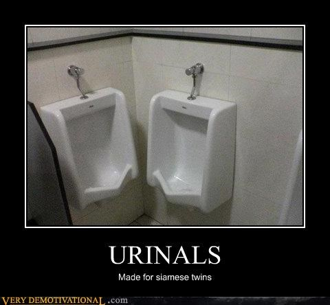 urinals siamese twins bathroom - 3090155520