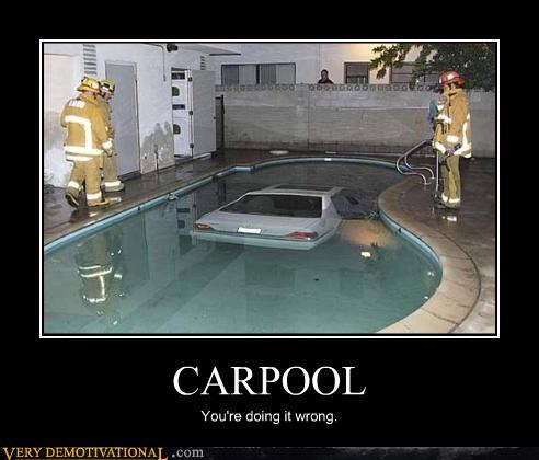carpool,pool,doing it wrong