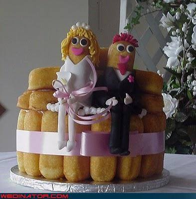 bride cake topper Dreamcake groom hostess klassy twinkie wedding cake Wedding Themes white trash wedding - 3091642624
