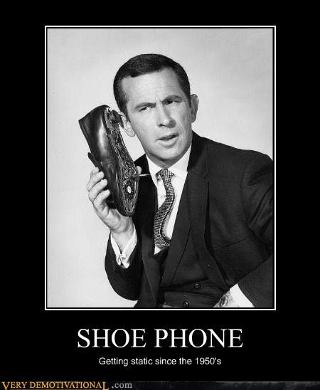 SHOE PHONE Getting static since the 1950's