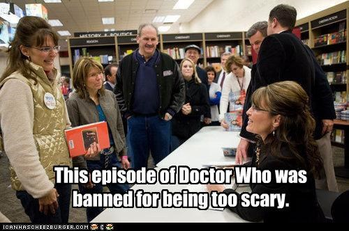 book signing creepy doctor who lookalikes Republicans Sarah Palin TV