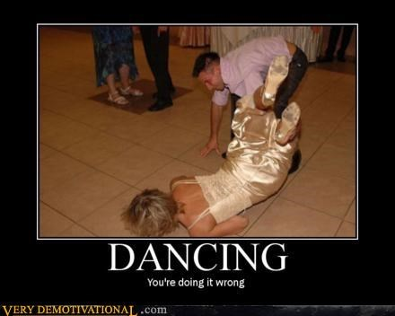 dancing doing it wrong epic FAIL fall hilarious wedding