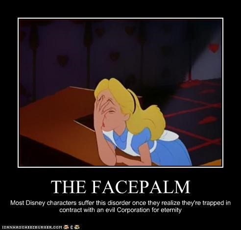 alice alice in wonderland disney evil facepalm - 3095770624