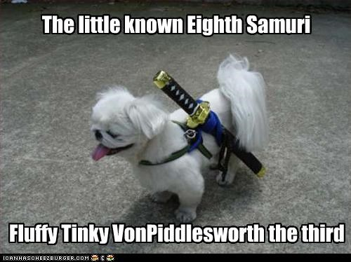 The little known Eighth Samuri Fluffy Tinky VonPiddlesworth the third