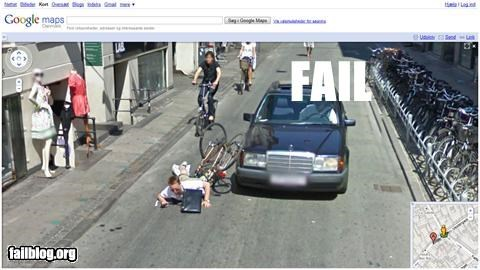 accident bike caught failboat google g rated Maps street view - 3099918336