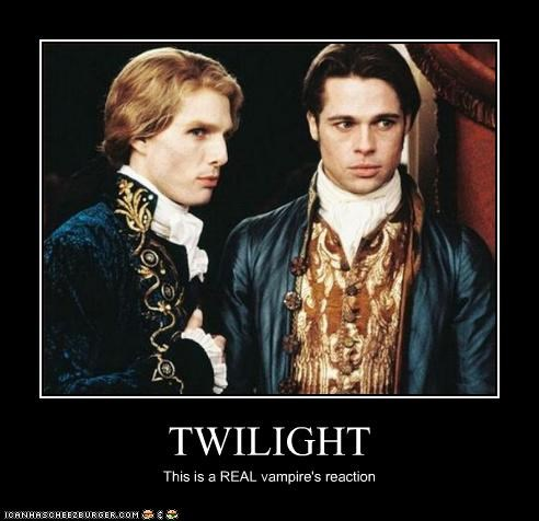 TWILIGHT This is a REAL vampire's reaction