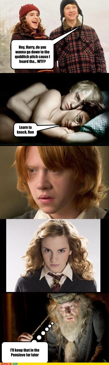 eww Harry Potter malfoy sexy times