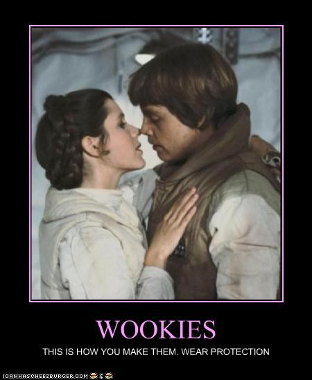 WOOKIES THIS IS HOW YOU MAKE THEM. WEAR PROTECTION