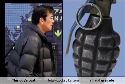 hand grenade,jacket,puffy