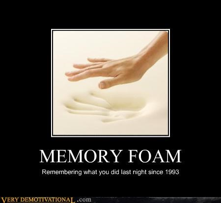 memory foam,sexy times,alone times