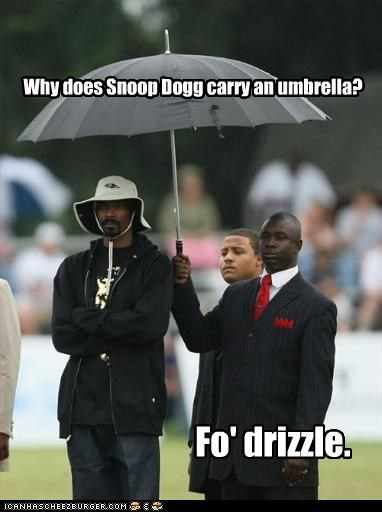 bad jokes Hall of Fame rapper snoop dogg umbrella handler - 3106077440