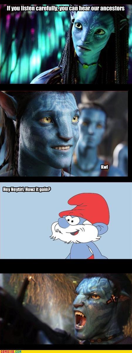 Movie navi-avatar smurfs