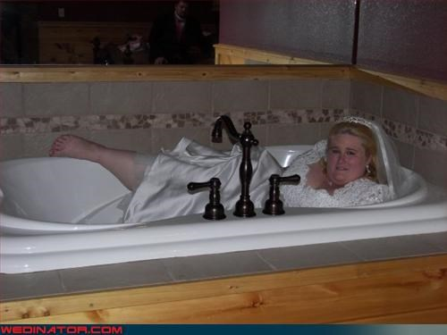 big bride bride bride in a bathtub bride in the bath confusing Crazy Brides eww fashion is my passion funny bride picture funny wedding photos miscellaneous-oops sexy bride surprise technical difficulties tub bride whoops wtf wtf is this