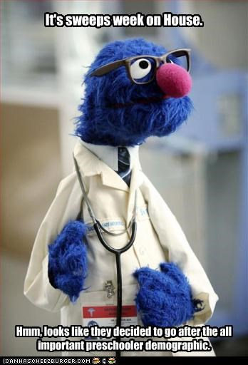 grover,House MD,kids,muppets,Sesame Street,tv doctors