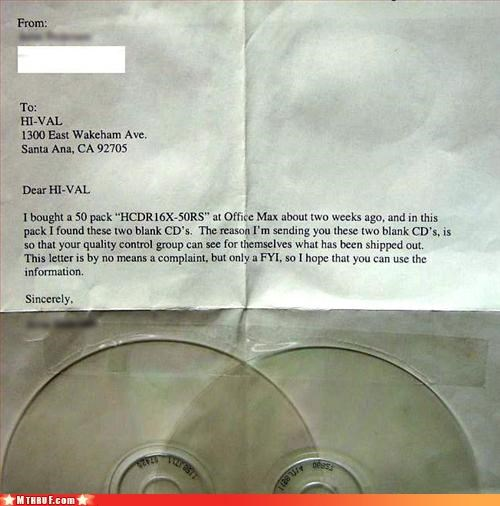 blank cds,clueless,inept,input fail,letter,n00b,passive aggressive,polite,sass