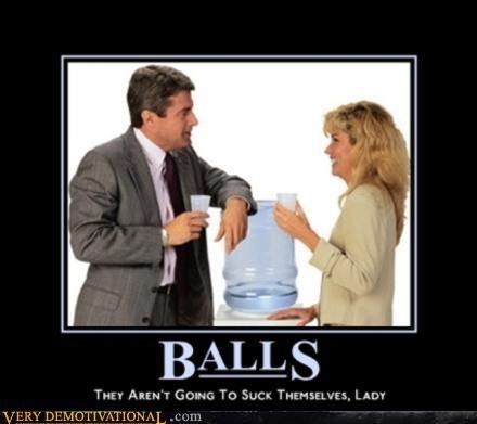 balls boss hilarious lady man Office water cooler - 3109776896