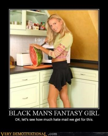 black guy delicious fantasy girl kitchen knife Mean People watermelon white chick - 3109780992