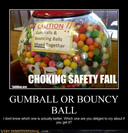 caution bouncy ball gumball