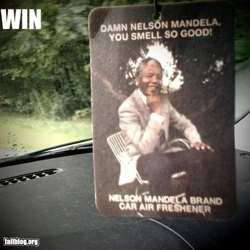 air freshener,g rated,nelson mandela,win