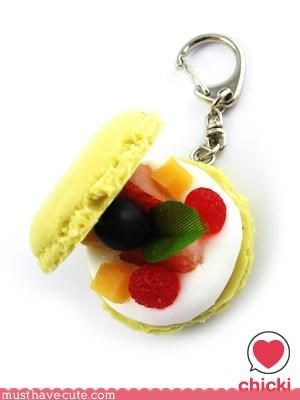 Crumpet cute food Keychain Teeny - 3112430592