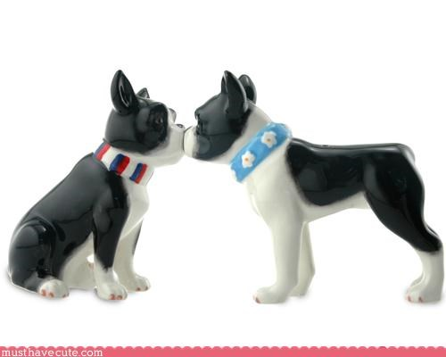 boston terrier dogs figurine love - 3112433664