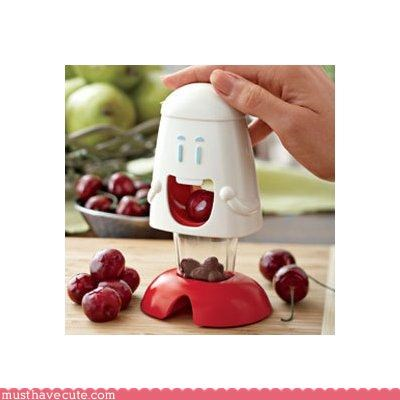 cherries,Faces On Stuff,food,kitchen,Kitchen Gadget
