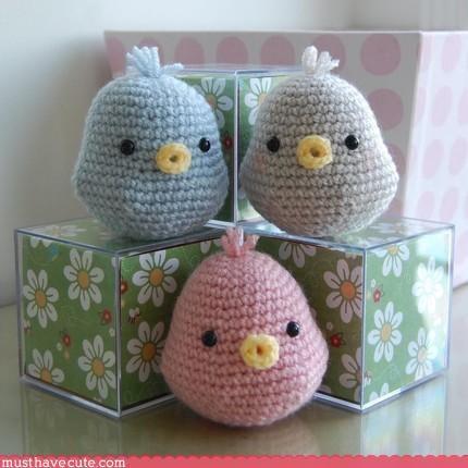 chicks Knitted Pastel Plushie sweet - 3112439040