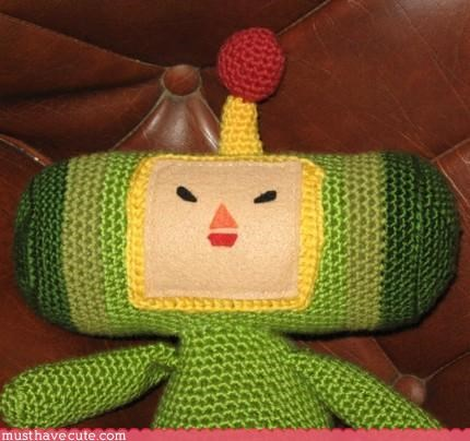 Crocheted cute katamari Knitted Plushie - 3112441856