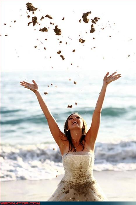 bride,confusing,confusing bridal photo,Crazy Brides,dirty bridal gown,eww,fashion is my passion,funny bride picture,funny wedding photos,surprise,um ew,weird bride picture,what-is-she-throwing,wtf,wtf is this