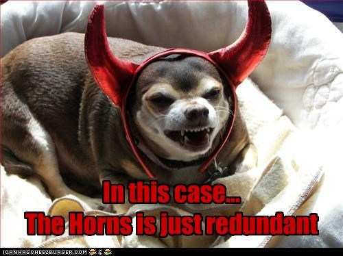 chihuahua costume evil horns
