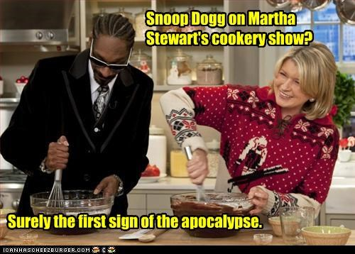 Snoop Dogg on Martha Stewart's cookery show? Surely the first sign of the apocalypse.