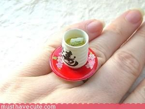 food hand made Jewelry ring Teeny - 3116016896