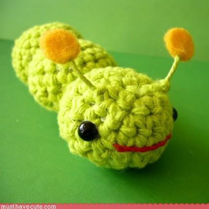 caterpillar Crocheted hand made Knitted Plushie toy - 3116078336