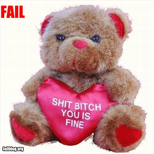 gift inappropriate teddy bear valentines - 3116324608