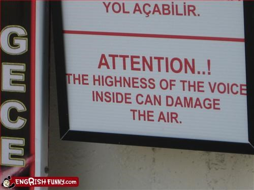 damage of the air a sign outside of a kareoke bar in Antalya, Turkey.