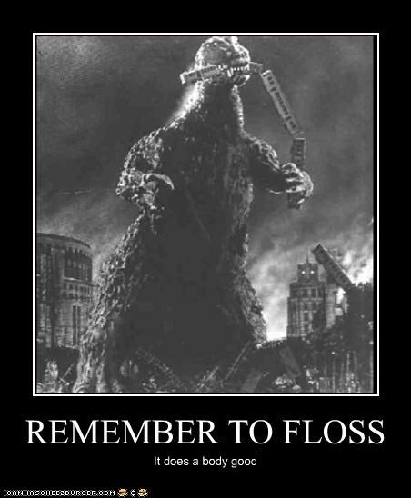 REMEMBER TO FLOSS It does a body good