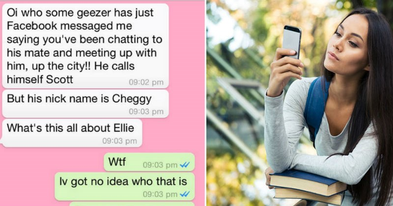 man accuses girlfriend of cheating