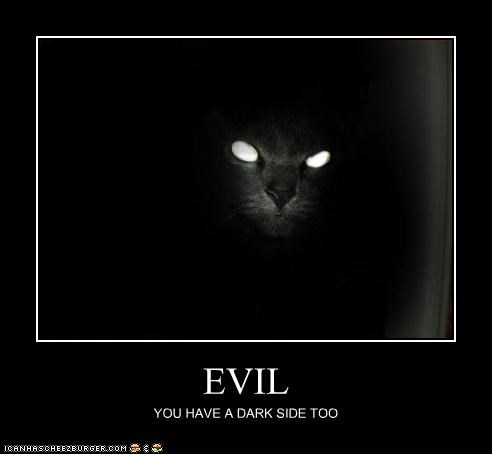 EVIL YOU HAVE A DARK SIDE TOO