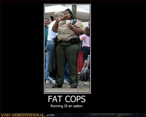 balanced diet demotivational donuts excercise fat cops hilarious Mean People obese - 3124982784