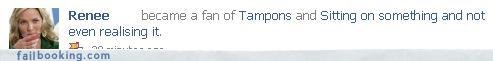 fans of gross nasty tampons TMI - 3125561600