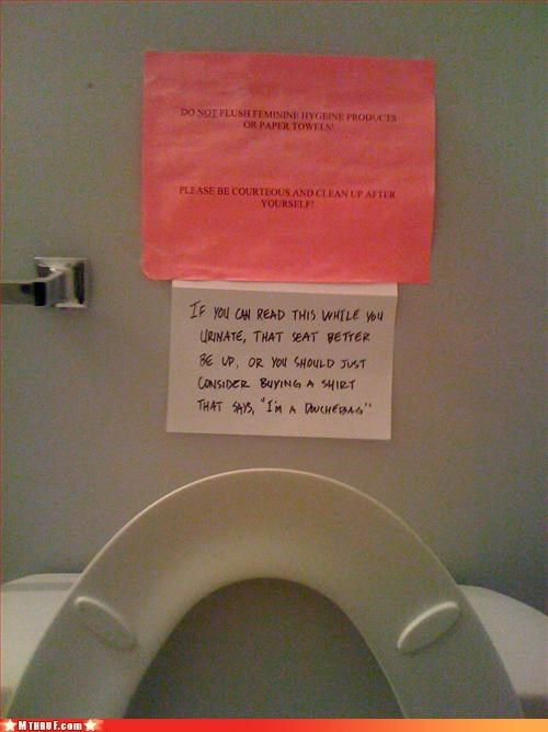 basic instructions bathroom dickhead co-workers douchebag paper signs passive aggressive pissing everywhere Sad sass signage tinkle sprinkle toilet graffiti - 3126136576