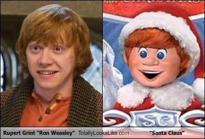 rankin and bass,Ron Weasley,rupert grint,santa