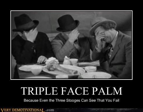 hilarious,three stooges,triple face palm
