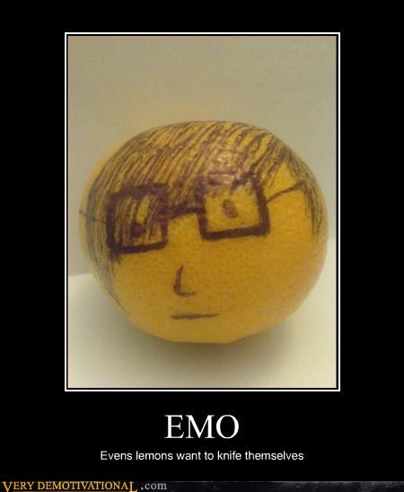 EMO Evens lemons want to knife themselves