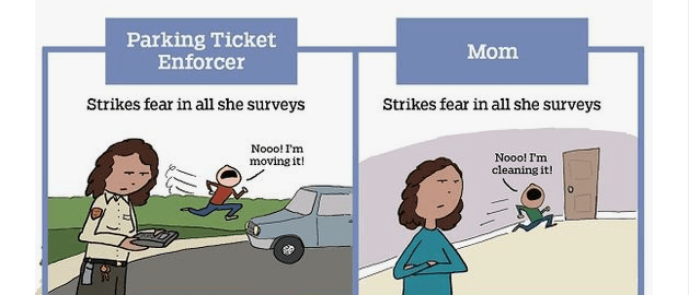 comics nailing the comparison between mom and parking enforcer