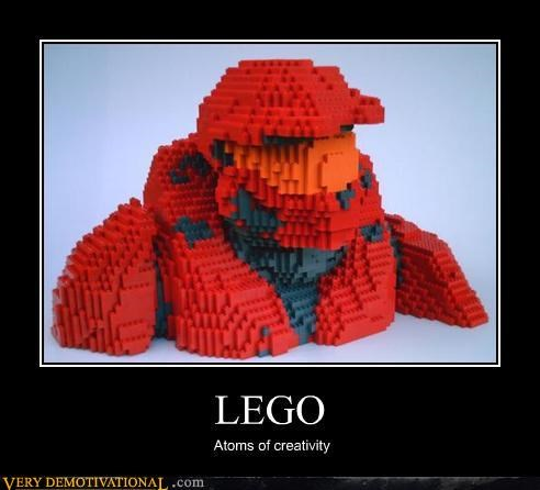 halo lego Pure Awesome red masterchief