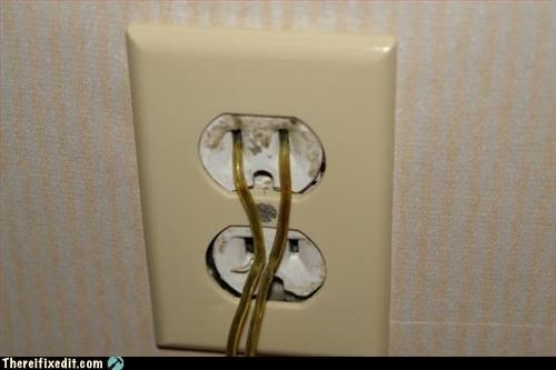 electrical hazard,fire hazard,outlet,unsafe