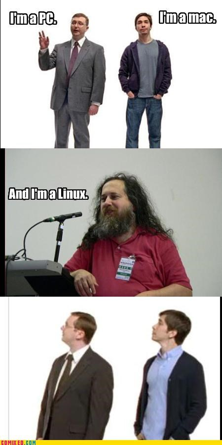 beardos,linux,mac,PC,the internets