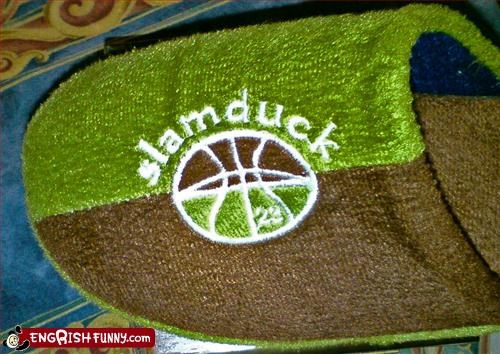 basketball,duck,g rated,shoes,slam,slippers,sports